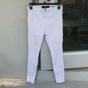 Hollister white high rise skinny jeans